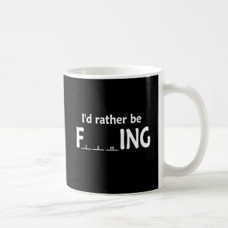 I'd Rather be FishING - Funny Fishing Classic White Coffee Mug