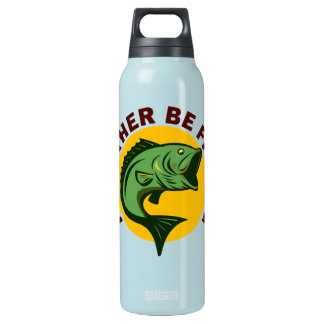 I'd Rather Be Fishing Insulated Water Bottle