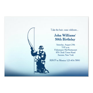 I'd Rather Be Fishing 5x7 Paper Invitation Card