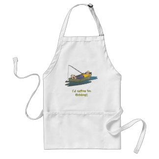 I'd rather be fishing - lazy boat day adult apron
