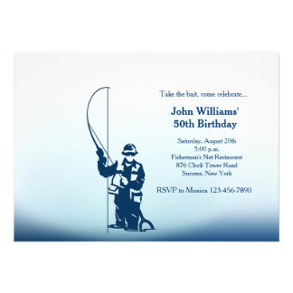 I'd Rather Be Fishing Personalized Invite