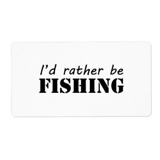 I'd rather be fishing personalized shipping label