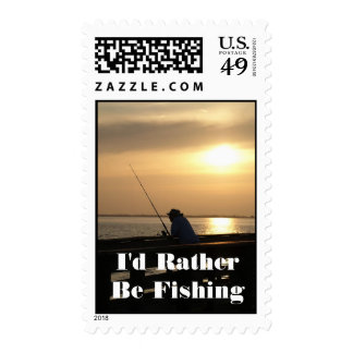 I'd Rather Be Fishing Postage Stamps