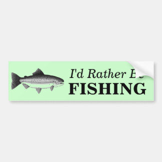 Deep sea fishing bumper stickers car stickers zazzle for Rather be fishing