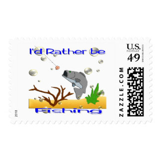 I'd Rather Be Fishing Stamp