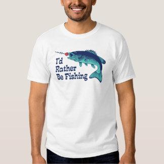 I'd Rather Be Fishing T Shirt