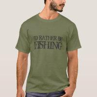 I'd rather be fishing tee shirt for men | Camo