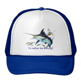 Id rather be fishing trucker hat