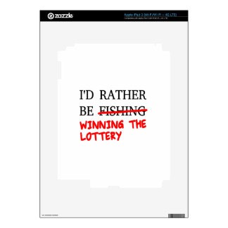 I'd Rather Be Fishing... Winning The Lottery iPad 3 Skin