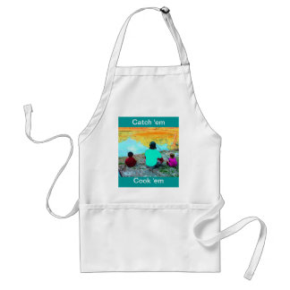 I'D RATHER BE FISHING WITH YOU ADULT APRON