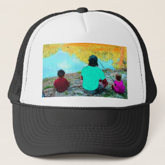I'D RATHER BE FISHING WITH YOU TRUCKER HAT
