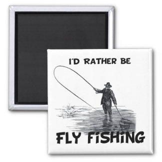 Id Rather Be Fly Fishing Fridge Magnet