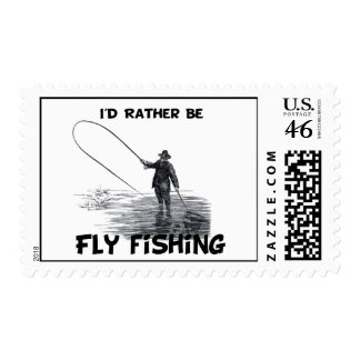 Id Rather Be Fly Fishing Stamp