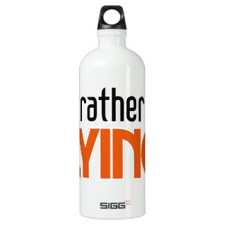 I'd Rather be Flying Aluminum Water Bottle