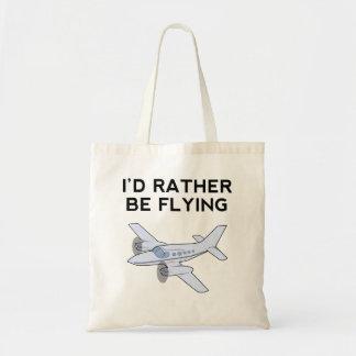 I'd Rather Be Flying Canvas Bag
