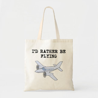 I'd Rather Be Flying Tote Bags