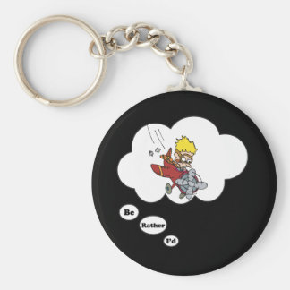 I'd rather be Flying Basic Round Button Keychain