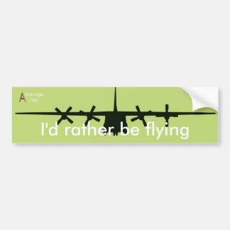 I'd rather be flying car bumper sticker
