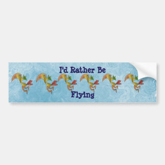 Id Rather Be Flying Car Bumper Sticker