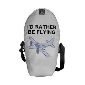 I'd Rather Be Flying Messenger Bag