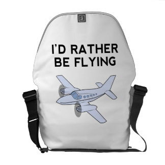I'd Rather Be Flying Courier Bags
