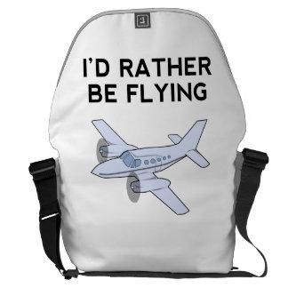 I'd Rather Be Flying Courier Bag