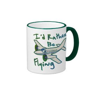 I'd Rather Be Flying Ringer Mug
