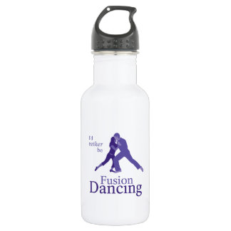 I'd Rather Be Fusion Dancing Stainless Steel Water Bottle