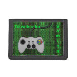 I'd Rather Be Gaming - Code and Game Controller Trifold Wallets
