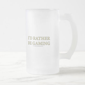 I'd Rather be Gaming Frosted Glass Beer Mug