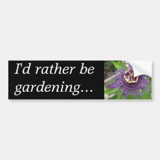 I'd Rather be Gardening Car Bumper Sticker