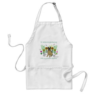 """I'd Rather Be Gardening (With My """"Dog Breed"""") Adult Apron"""