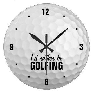 I'd rather be golfing wallclock