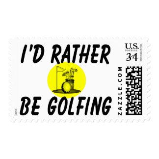 I'd rather be golfing postage