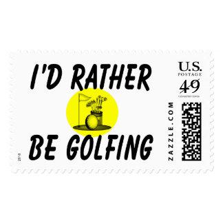 I'd rather be golfing postage stamp