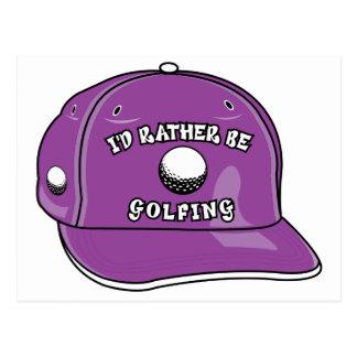 I'd Rather Be Golfing Postcard