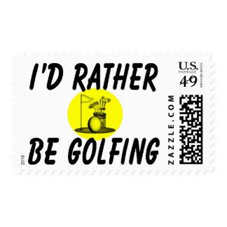 I'd rather be golfing stamp