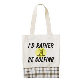 I'd rather be golfing zazzle HEART tote bag