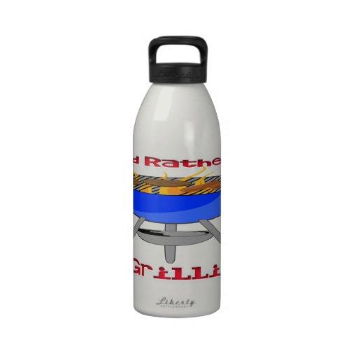 I'd Rather Be Grilling Liberty Bottle Drinking Bottles