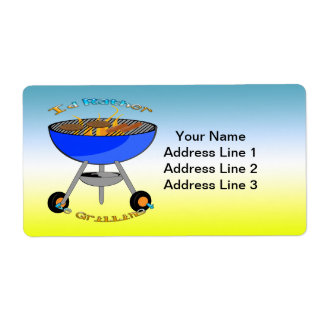 I'd Rather Be Grilling Shipping Address Label