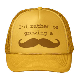 I'd rather be growing a mustache Hat