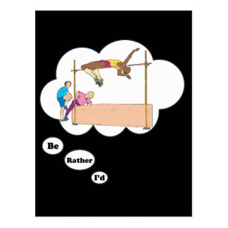 I'd rather be High Jumping Postcard