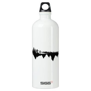 Beach Themed I'd Rather be Hiking Water Bottle