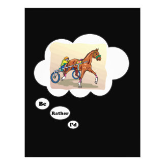 I'd rather be Horse Racing Personalized Flyer