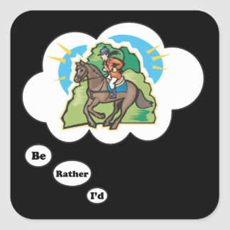 I'd rather be Horseback Riding 3 Sticker