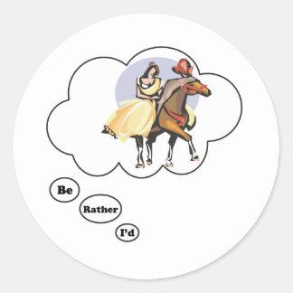I'd rather be Horseback Riding Sticker