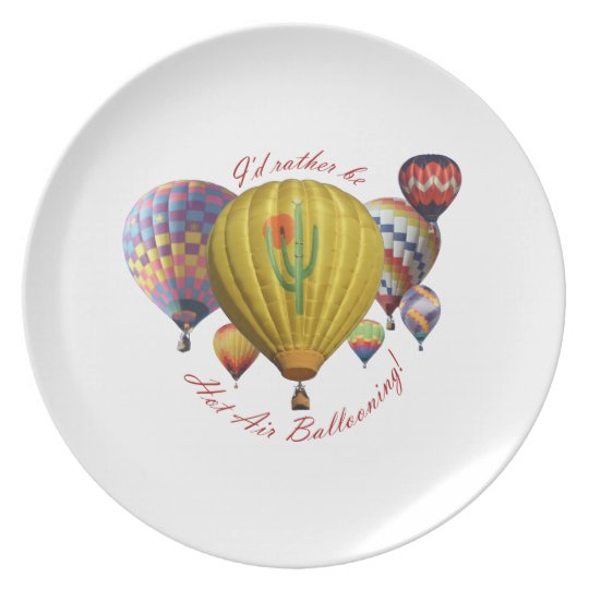 I'd Rather Be Hot Air Ballooning Plate