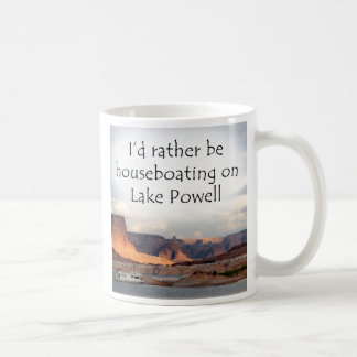 I'd rather be houseboating at Lake Powell! Classic White Coffee Mug