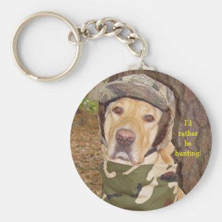 I'd Rather Be Hunting! Basic Round Button Keychain