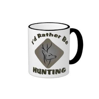 I'd Rather Be Hunting Deer Hunter Ringer Mug